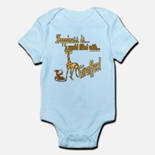 Happiness is a giraffe Infant Bodysuit