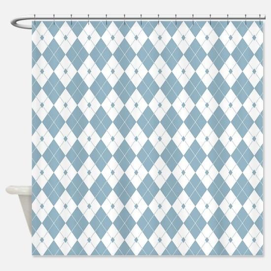 Unique Argyle Shower Curtain