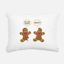 My Leg Hurts! What? Gingerbread Men Rectangular Ca