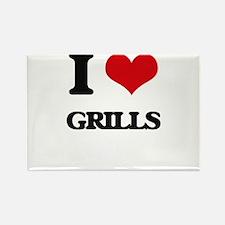 I Love Grills Magnets