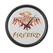 Fire Bird Large Wall Clock