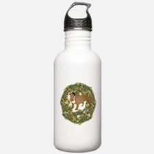 2-WreathBulldog2.png Water Bottle