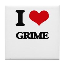 I Love Grime Tile Coaster