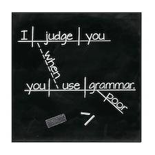 Grammar Diagram (Blk sq) Tile Coaster