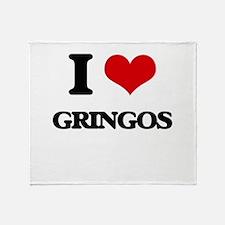 I Love Gringos Throw Blanket