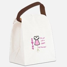 NOT JUST A CRAFT APPLIQUE Canvas Lunch Bag