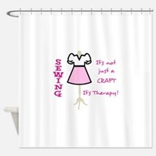 NOT JUST A CRAFT APPLIQUE Shower Curtain