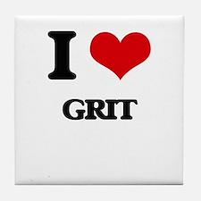 I Love Grit Tile Coaster