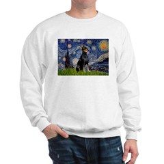 Starry Night Doberman Sweatshirt