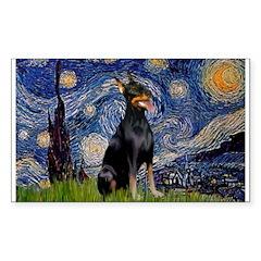 Starry Night Doberman Decal
