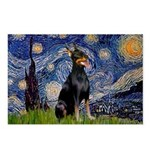 Starry Night Doberman Postcards (Package of 8)