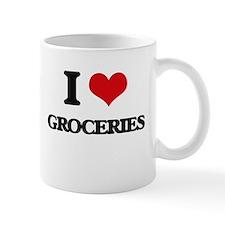 I Love Groceries Mugs