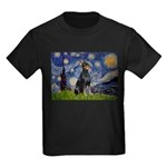 Starry Night Doberman Kids Dark T-Shirt