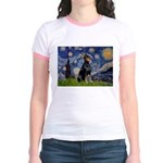 Starry Night Doberman Jr. Ringer T-Shirt