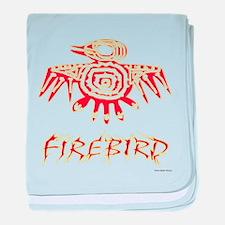 Fire Bird baby blanket