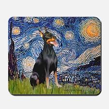 Starry Night Doberman Mousepad