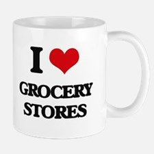 I Love Grocery Stores Mugs
