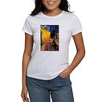 Cafe & Doberman Women's T-Shirt