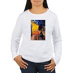 Cafe & Doberman Women's Long Sleeve T-Shirt