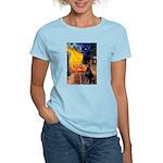 Cafe & Doberman Women's Light T-Shirt