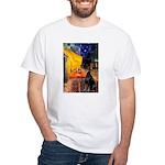 Cafe & Doberman White T-Shirt