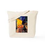 Cafe & Doberman Tote Bag