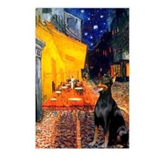 Cafe & Doberman Postcards (Package of 8)