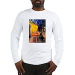 Cafe & Doberman Long Sleeve T-Shirt