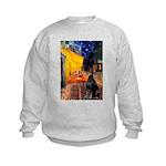 Cafe & Doberman Kids Sweatshirt