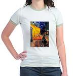 Cafe & Doberman Jr. Ringer T-Shirt