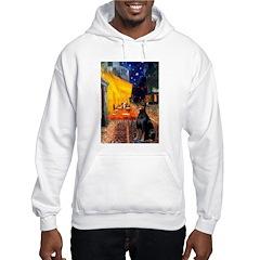 Cafe & Doberman Hooded Sweatshirt