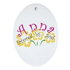 Anna Oval Ornament