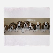 beagle puupies Throw Blanket