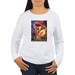 Mandolin Angel & Dobie Women's Long Sleeve T-Shirt