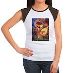 Mandolin Angel & Dobie Women's Cap Sleeve T-Shirt