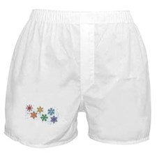 Rainbow Snow Flakes Boxer Shorts