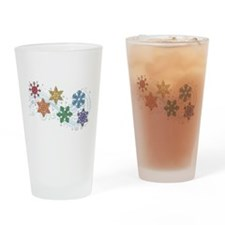 Rainbow Snow Flakes Drinking Glass