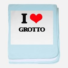 I Love Grotto baby blanket