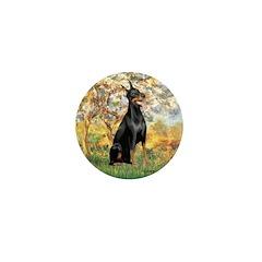 Spring / Doberman Mini Button (10 pack)