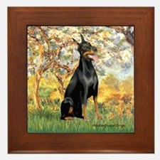 Spring / Doberman Framed Tile