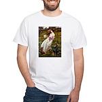 Windflowers / Doberman White T-Shirt
