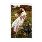 Windflowers / Doberman Sticker (Rectangle)