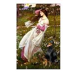 Windflowers / Doberman Postcards (Package of 8)
