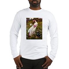 Windflowers / Doberman Long Sleeve T-Shirt