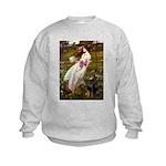 Windflowers / Doberman Kids Sweatshirt