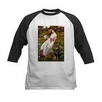 Windflowers / Doberman Kids Baseball Jersey