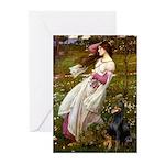 Windflowers / Doberman Greeting Cards (Pk of 10)