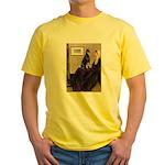 Mom's Doberman (#1) Yellow T-Shirt