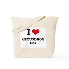 I Love Groundhog Day Tote Bag