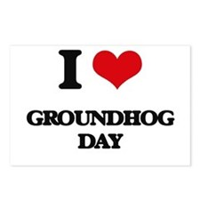 I Love Groundhog Day Postcards (Package of 8)